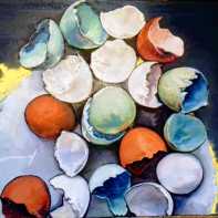 Eggshells-Prayer. Maria Troupkou