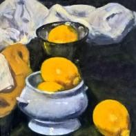 still life with lemons. Denis Purshouse