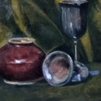 still life with pewter Denis Purshouse