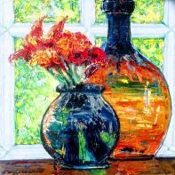 Two Glass Vases. Maria Troupkou
