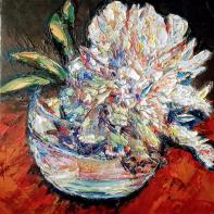 White Chrysanthemums . Maria Troupkou